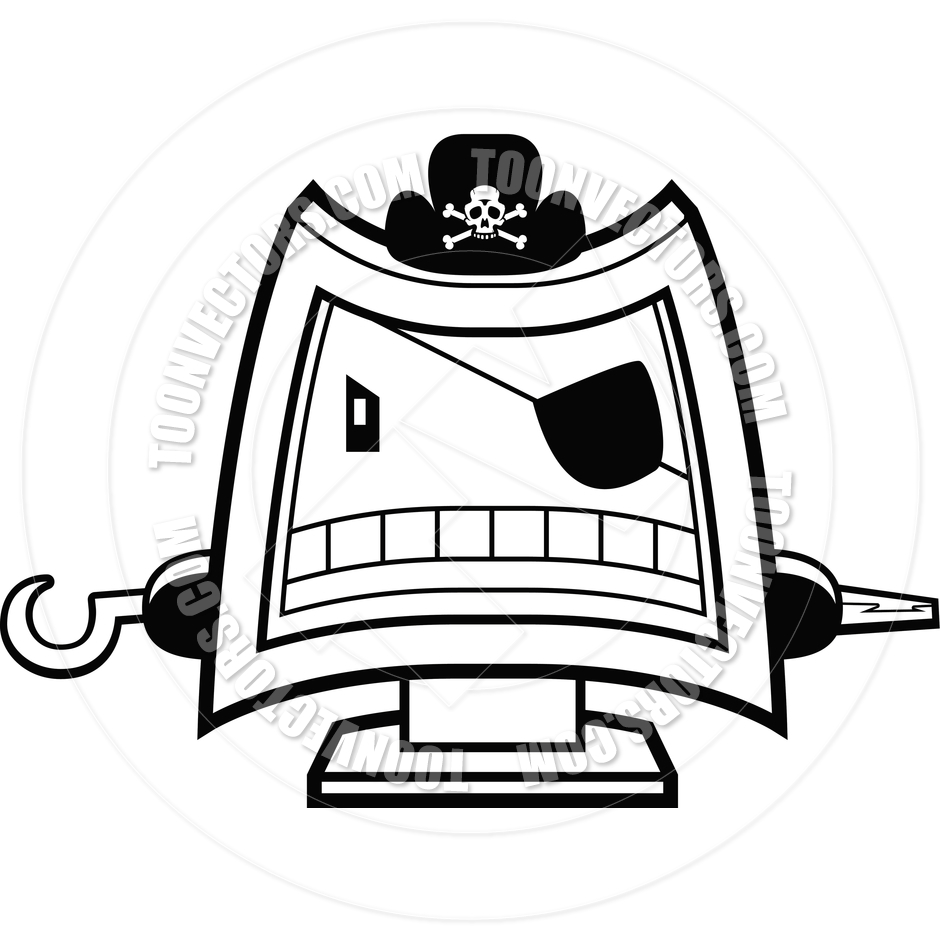 Pirate hat clipart black and white - photo#22