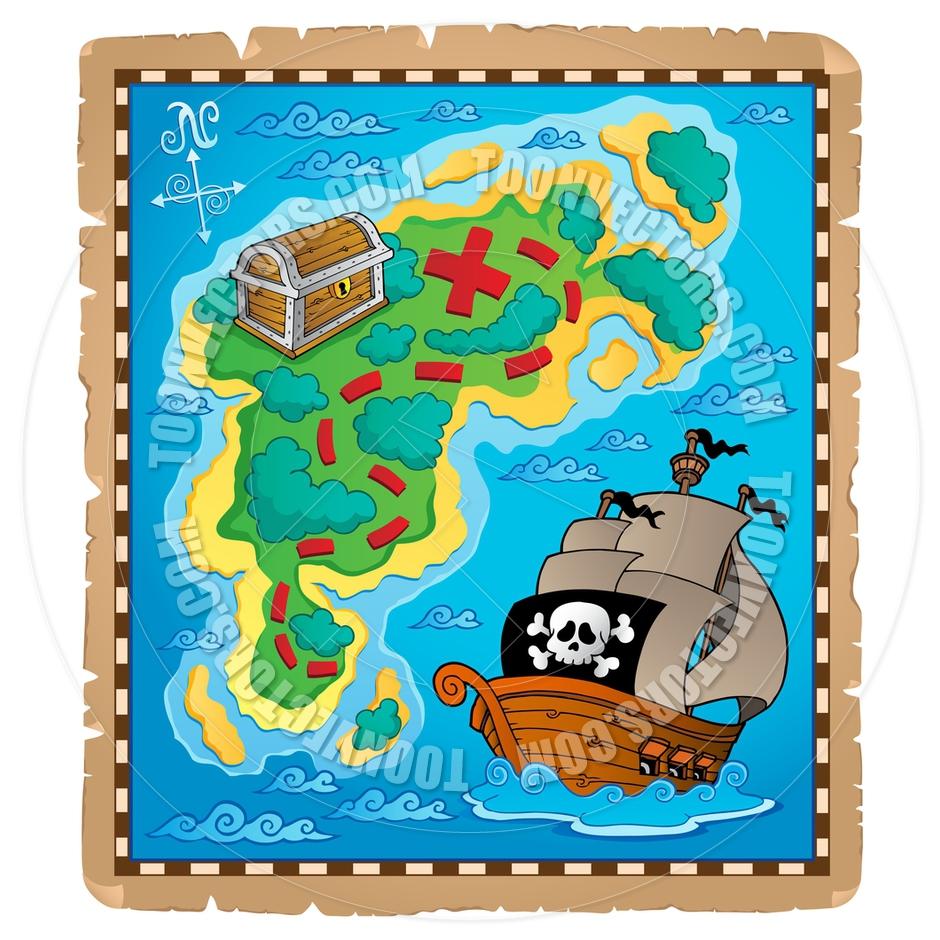 Cartoon Pirate Treasure Map | Clipart Panda - Free Clipart Images on