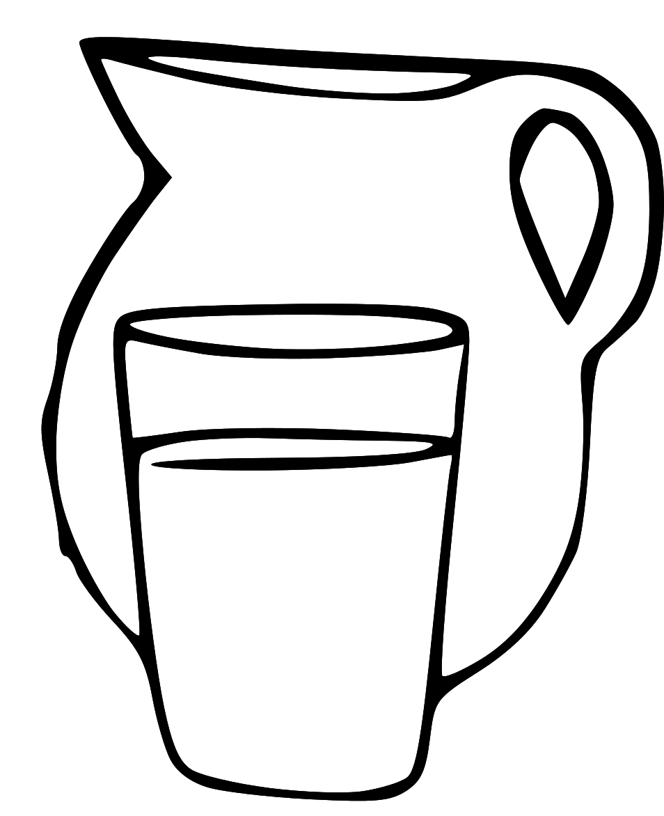 Line Drawing Jug : Pitcher of water clipart panda free images
