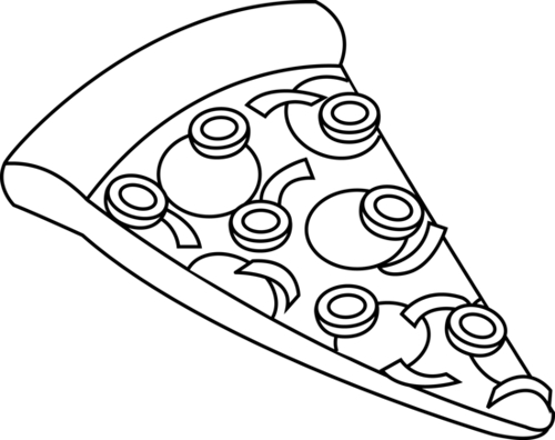 Clip Art Pizza Clipart Black And White pizza clipart black and white panda free images clip art