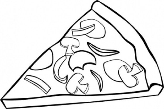 Clip Art Pizza Clipart Black And White pizza clipart black and white panda free images