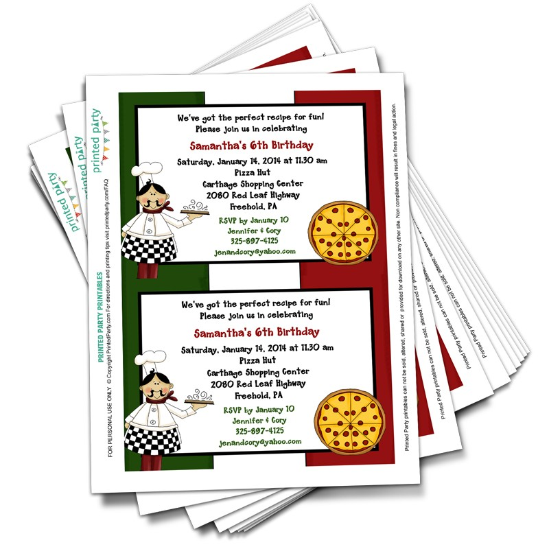 Pizza Party Invitations | Clipart Panda - Free Clipart Images