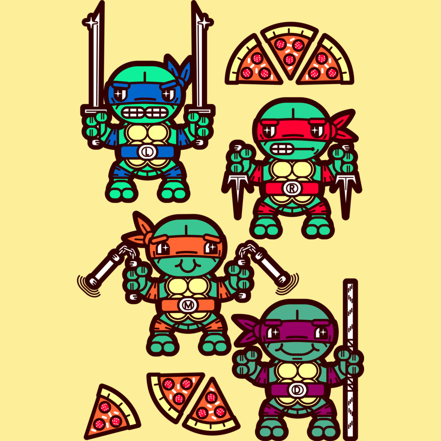 Pizza Party Ninja Turtles | Clipart Panda - Free Clipart Images