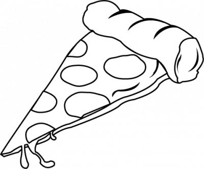 Pizza Slice Clipart Black And White | Clipart Panda - Free Clipart ...