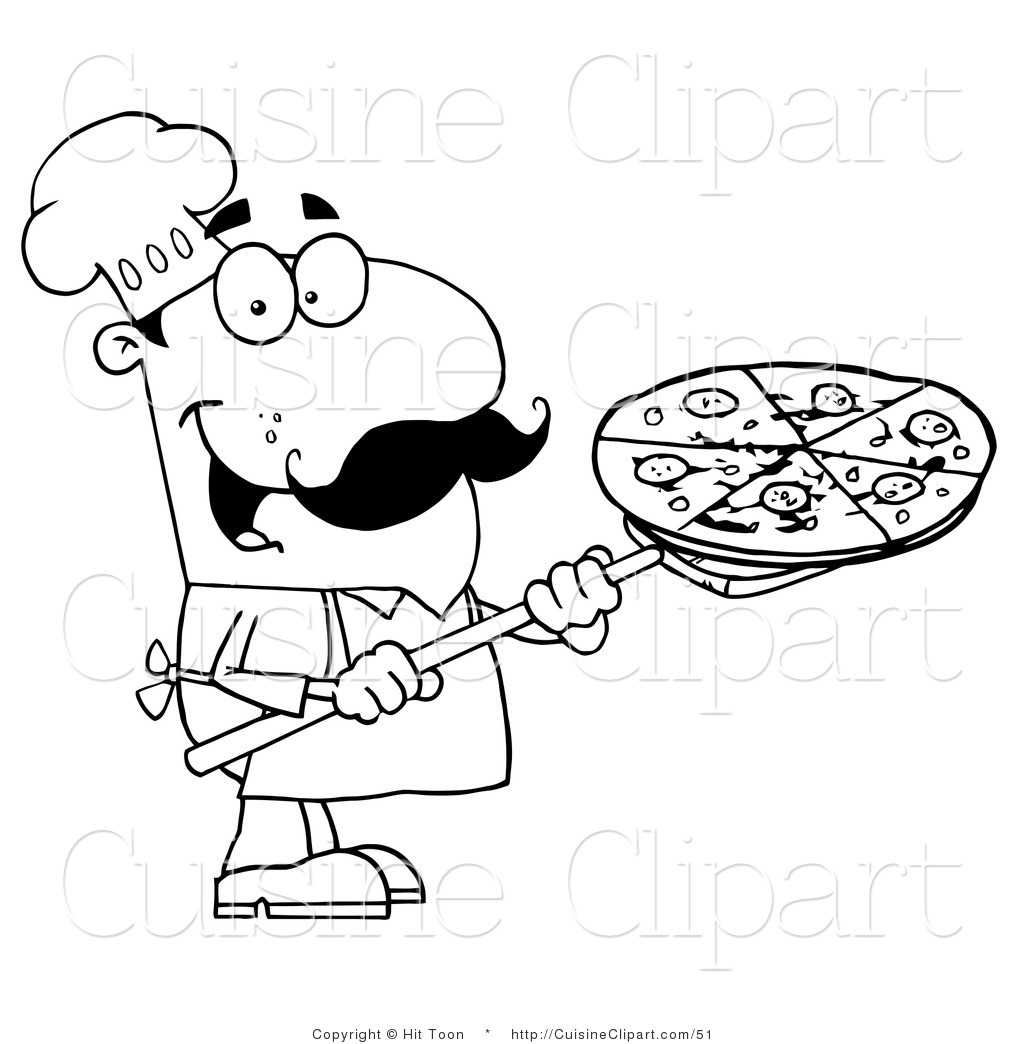 Chef And Stove Coloring Page