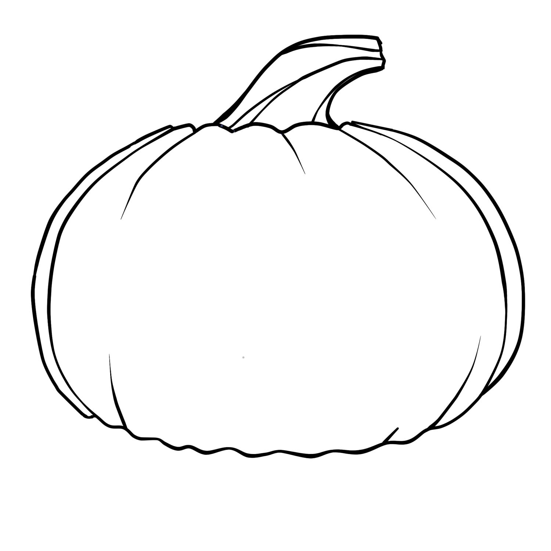 plain pumpkin coloring pages - photo#1