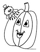 plain pumpkin coloring pages - photo#13
