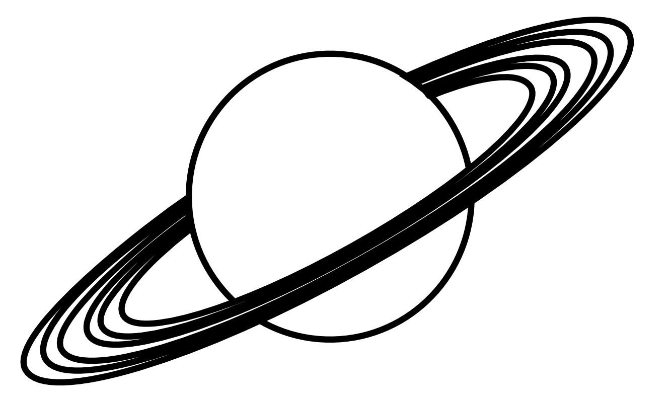 Q Line Art : Planet clipart black and white panda free