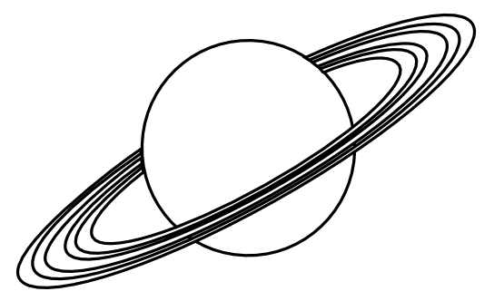 Planet clipart black and white clipart panda free for Saturn coloring pages