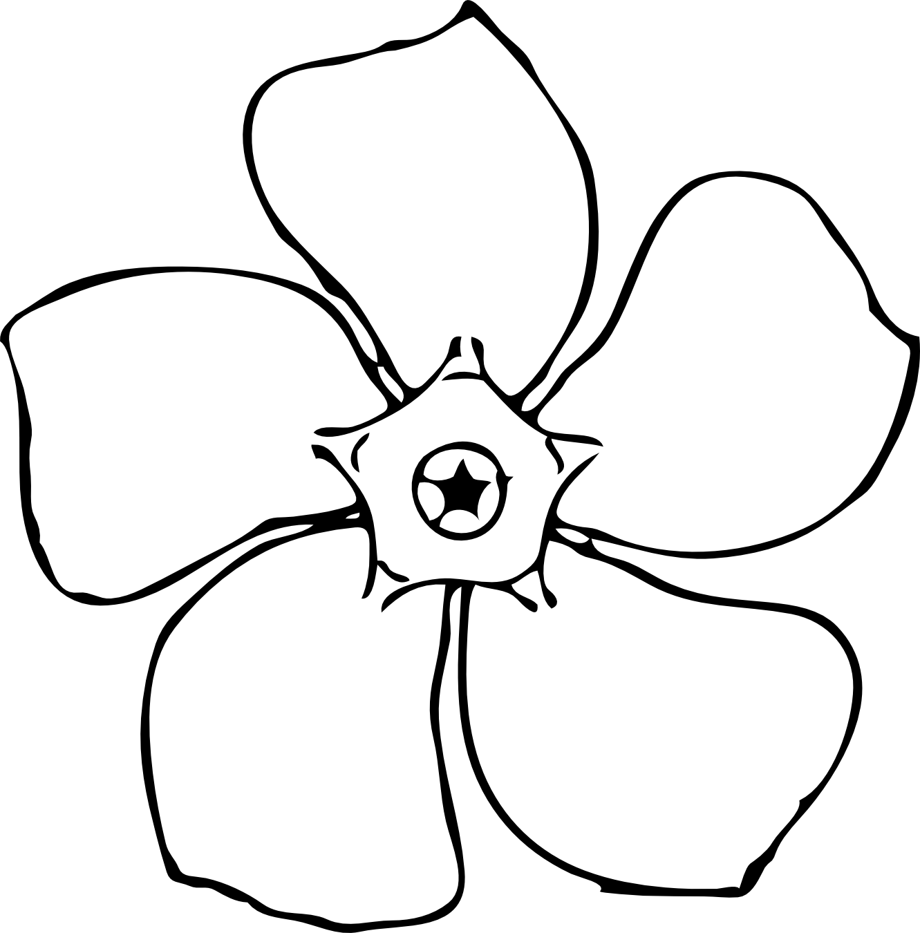 Line Drawing Spring Flowers : Clipart spring flowers black and white panda