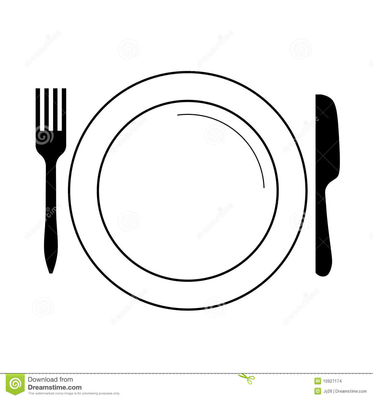 Line Drawing Knife And Fork : Plate clip art free clipart panda images