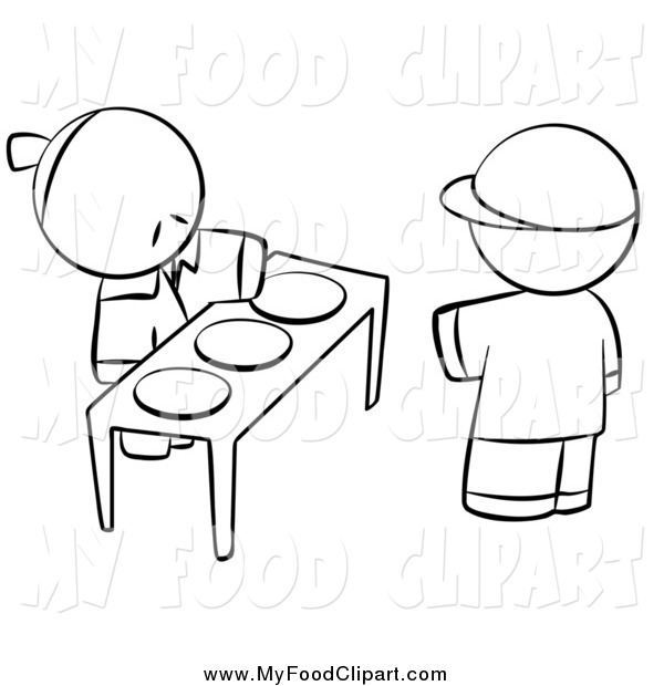 Food Clip Art of a Black and | Clipart Panda - Free ...