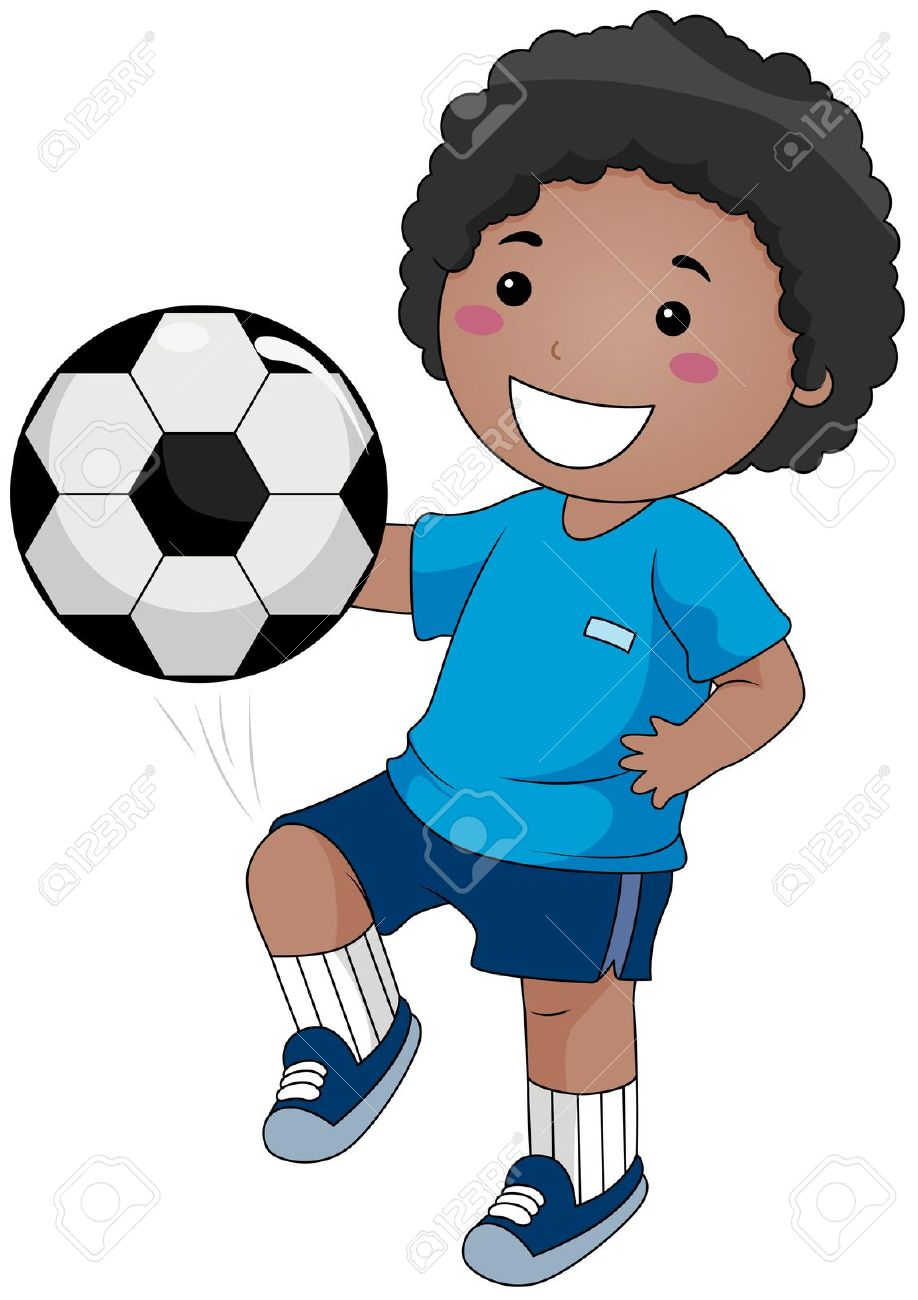 Playing Soccer Clipart...