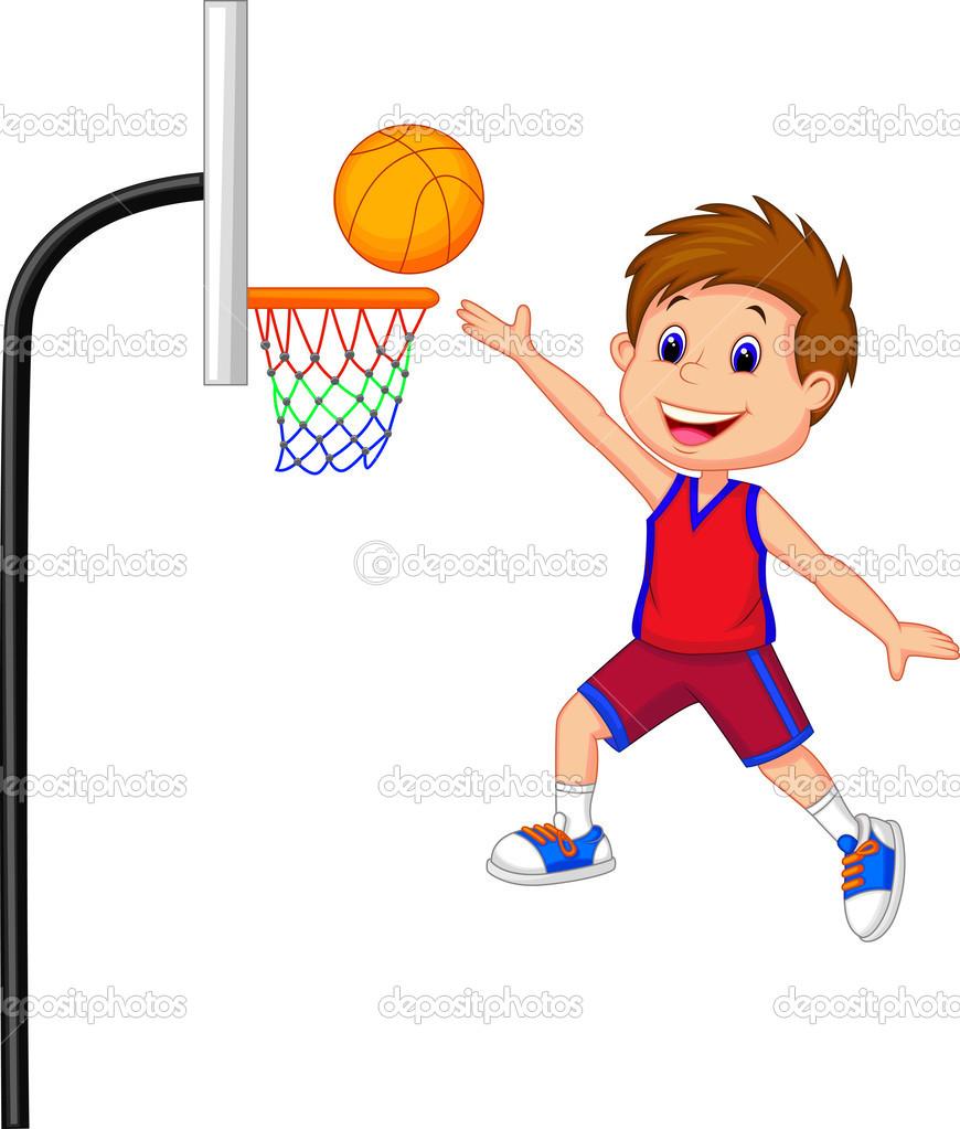 Basketball playing. Boy clipart panda free