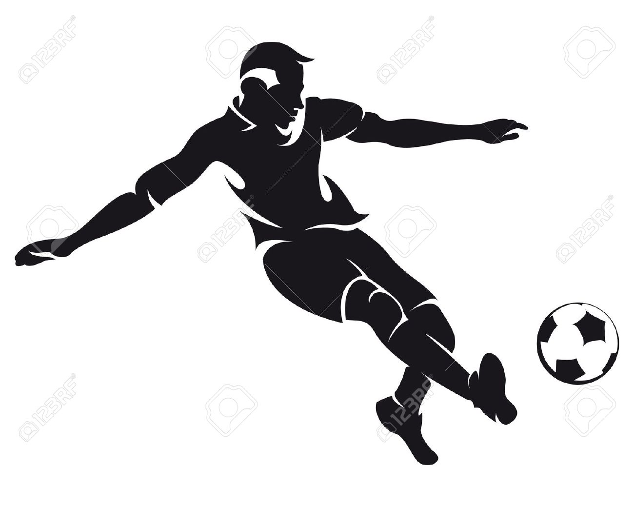 Soccer Player Vector Football Clipart Panda Free Clipart Images