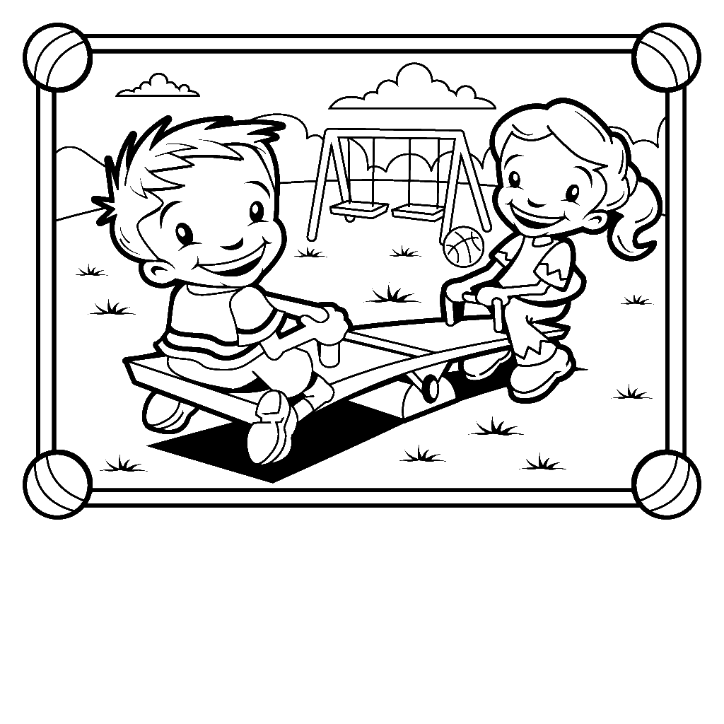 The Gallery For Gt Seesaw Clipart Black And White