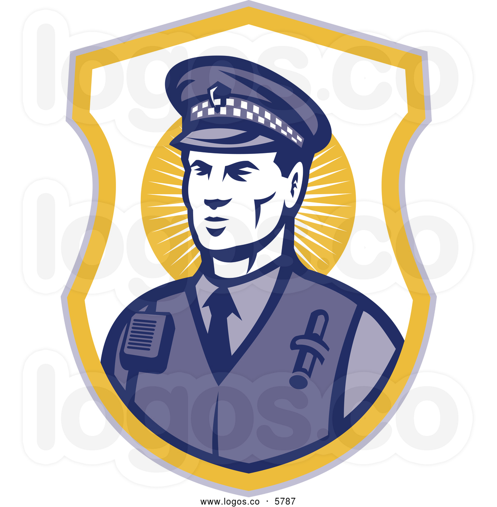 Police Officer Badge Clipart Royalty Free Vector Of A Logo Of A Police Officer In A Badge By Patrimonio
