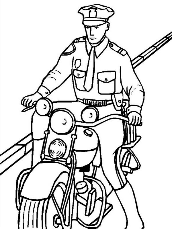 police pages coloring pages - photo#25