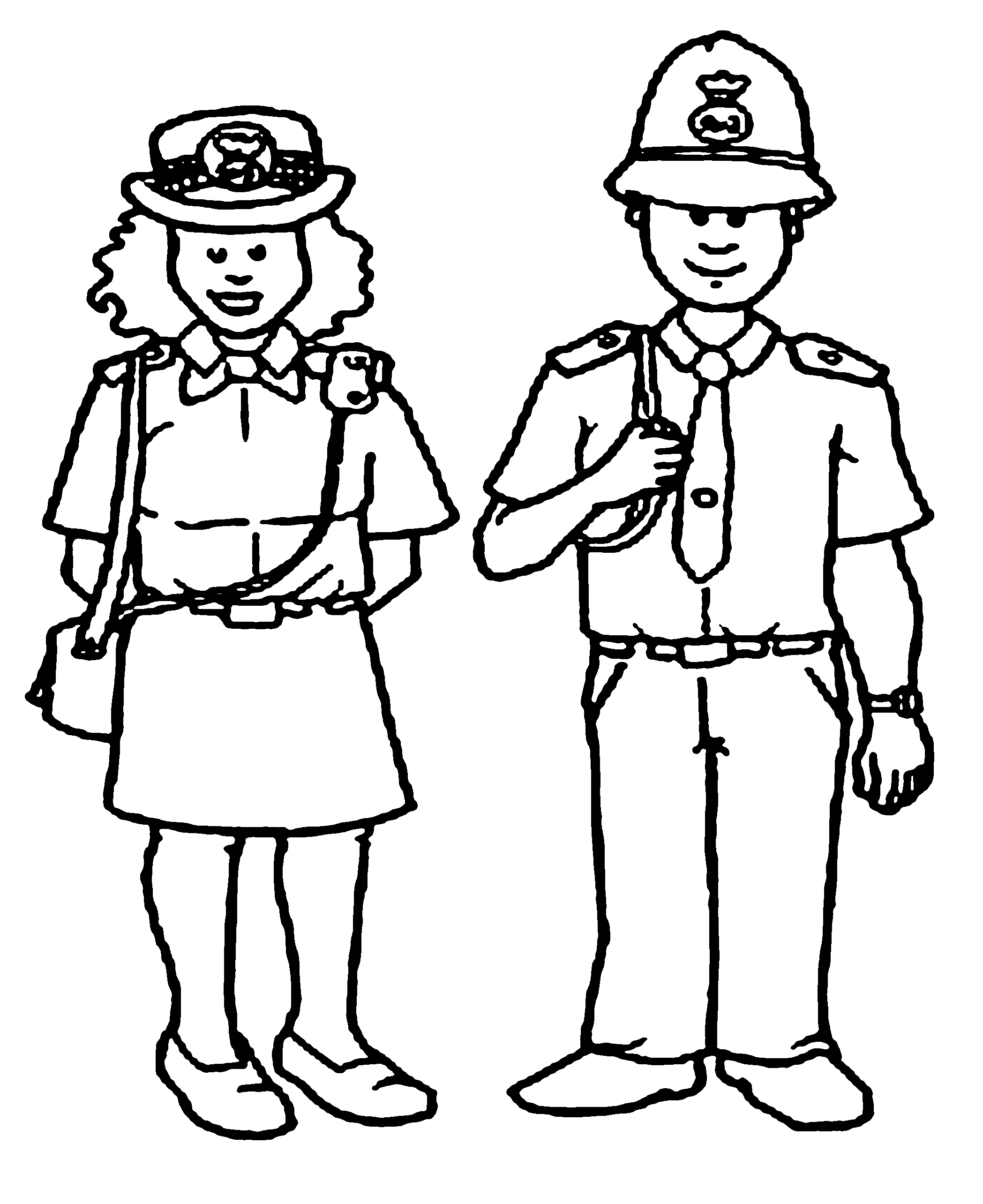 Cop Coloring Pages