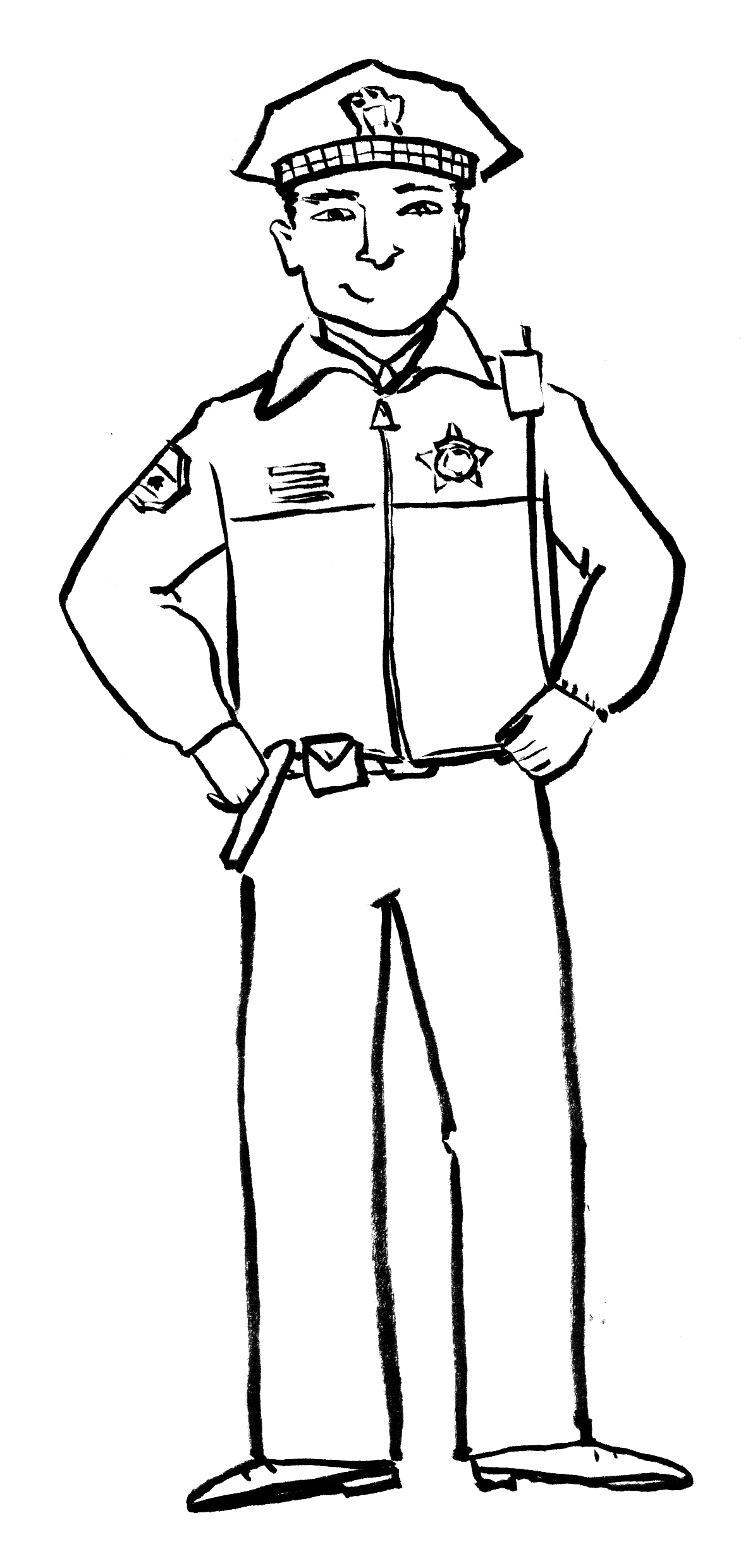 coloring pages of police officer - photo#15