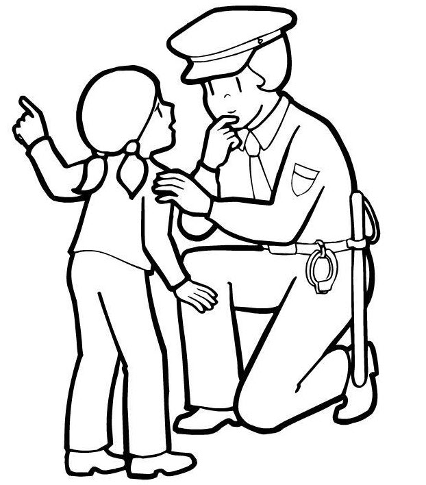 coloring pages of police officer - photo#4