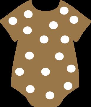 Polka Dot Onesie Clip Art
