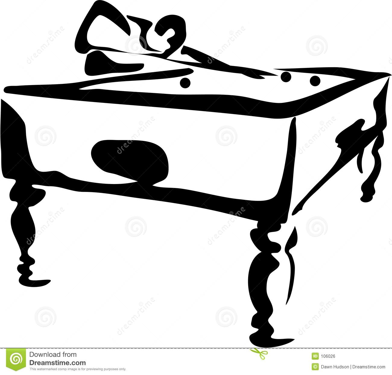 Billiards black and white clipart