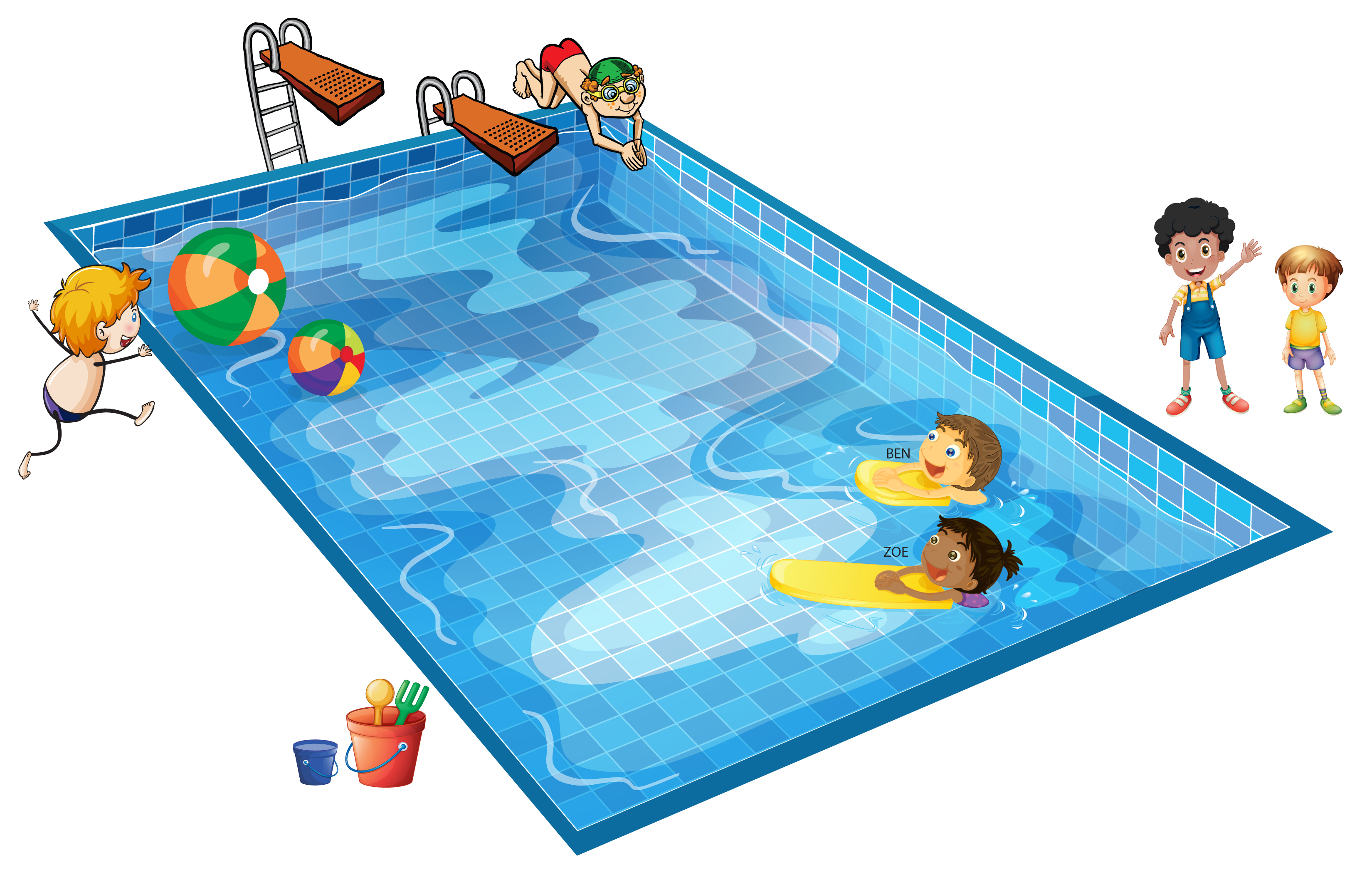 Pool clip art images clipart panda free clipart images for Free clipart swimming pool party
