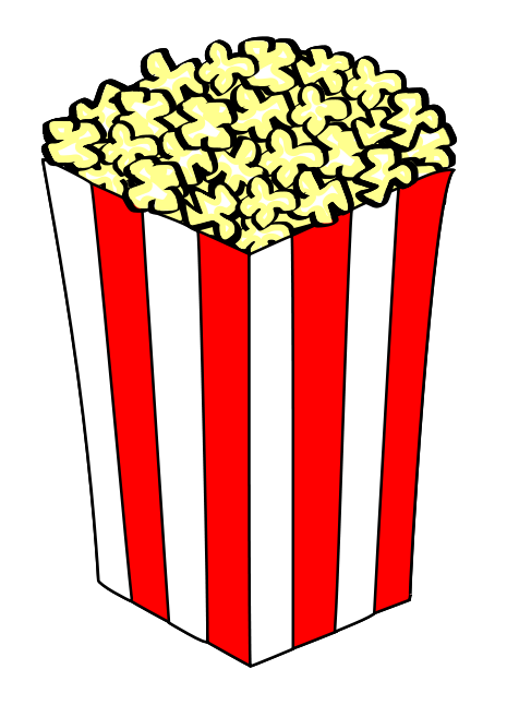 Popcorn Bowl Clipart  ...