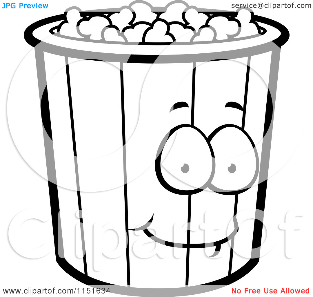 popcorn bucket coloring page - popcorn clipart black and white clipart panda free