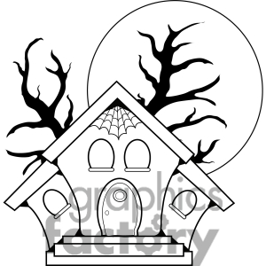 haunted house clipart black and white clipart panda free clipart rh clipartpanda com free haunted house clipart black and white Cartoon Haunted House Drawing