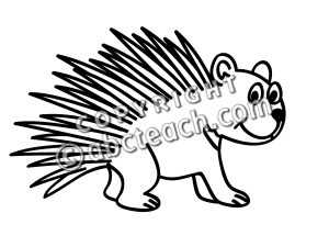 porcupine clip art black and white clipart panda free clipart