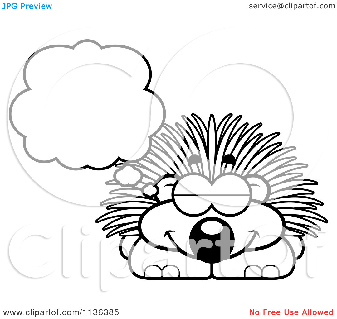Porcupine coloring page clipart panda free clipart images for Porcupine coloring page