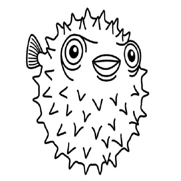 Puffer Fish Coloring Pages Coloring