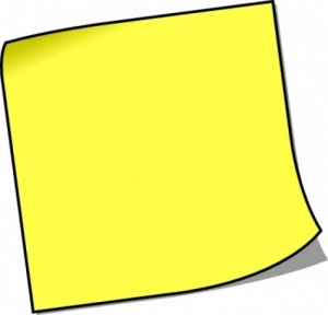 Post It Notes Clipart | Clipart Panda - Free Clipart Images - photo#17