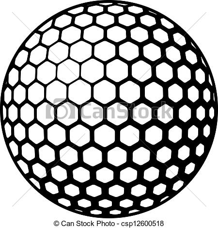 Golf Ball Black And White Clipart Panda