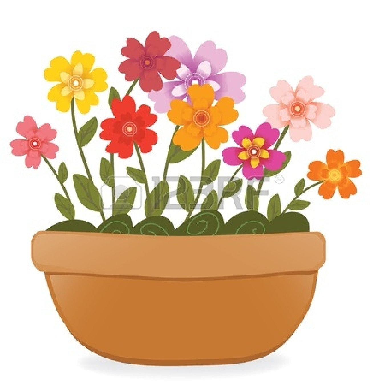 Free Clip Art Flowers In Pots 85