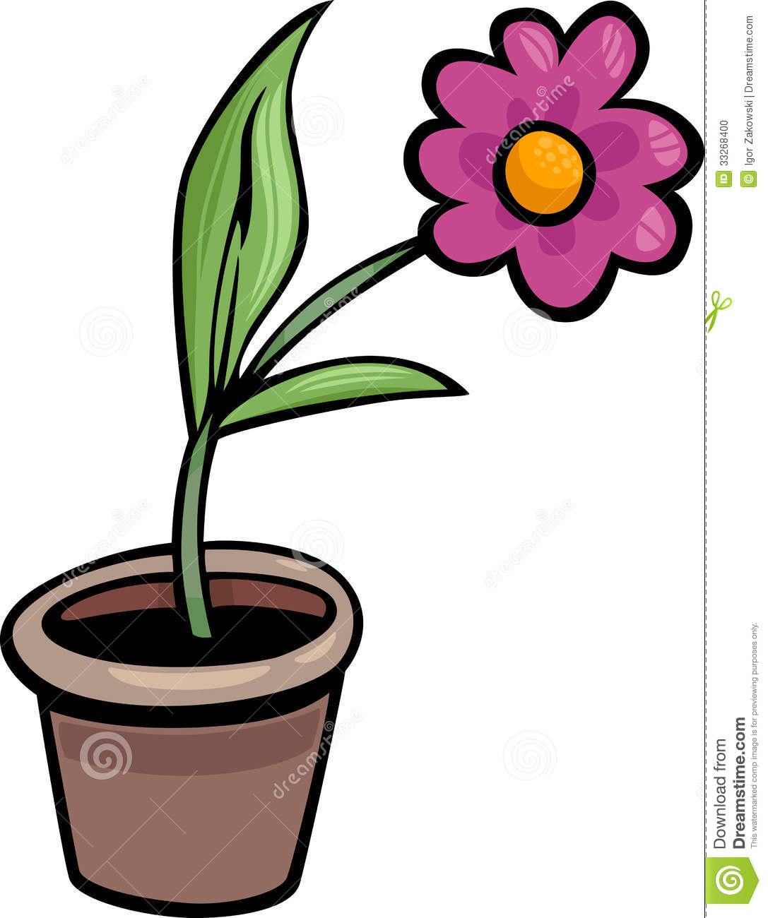 Cartoon Flower Pot to Pin on Pinterest PinsDaddy