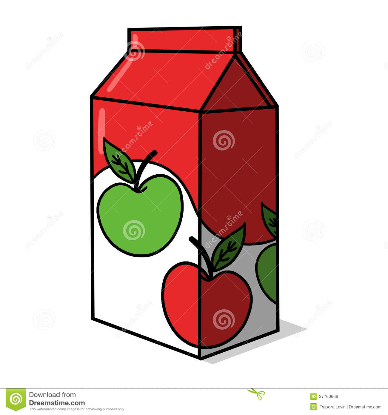 Juice Carton Clip Art