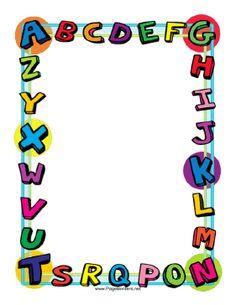 Free Printable Preschool Borders | Clipart Panda - Free ...