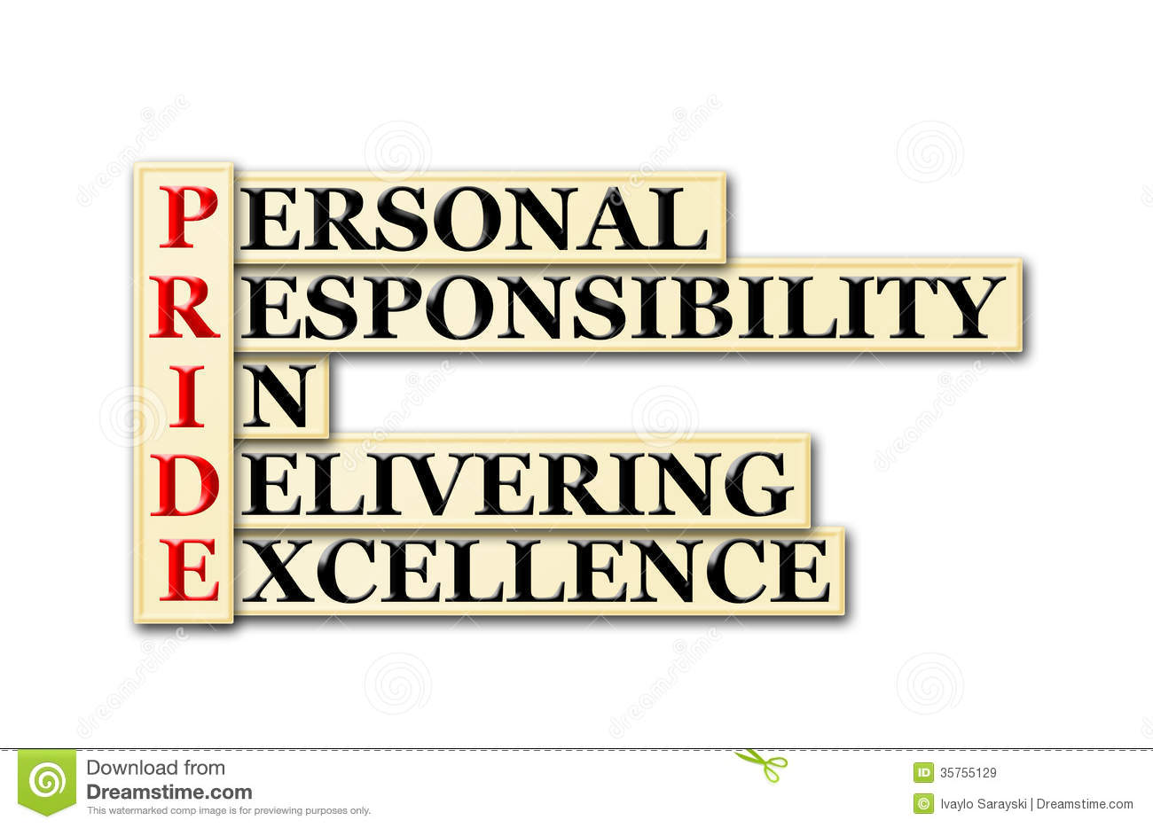 pride responsibility excellence personal acronym quotes clipart delivering clip workplace conceptual royalty clipartpanda quotesgram humility sayings illustration terms