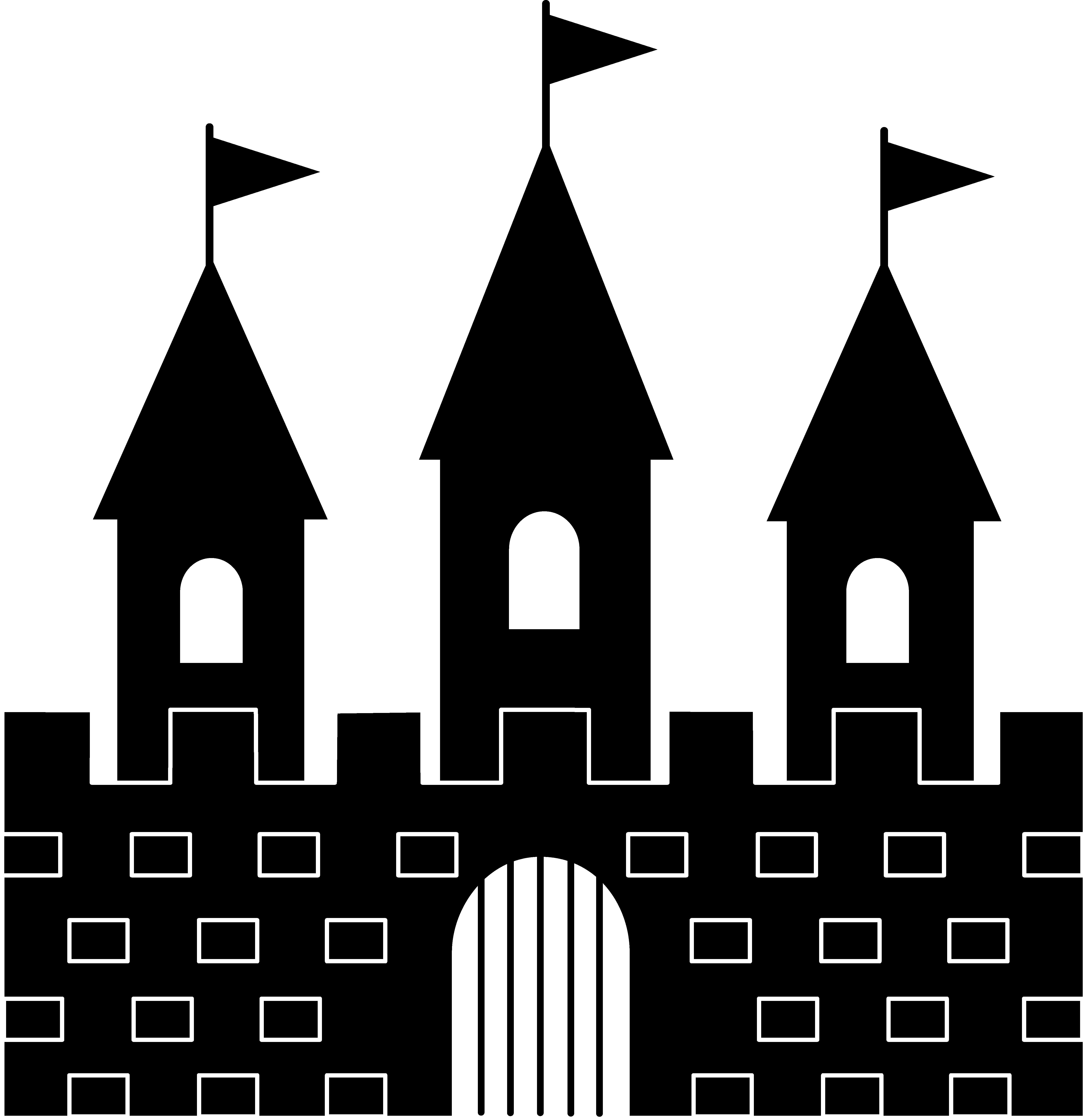 princess castle clipart black and white clipart panda