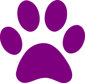 Image result for purple paw print clip art