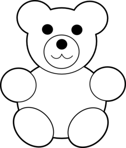 Teddy Bear Clipart Black And White | Clipart Panda - Free Clipart ...