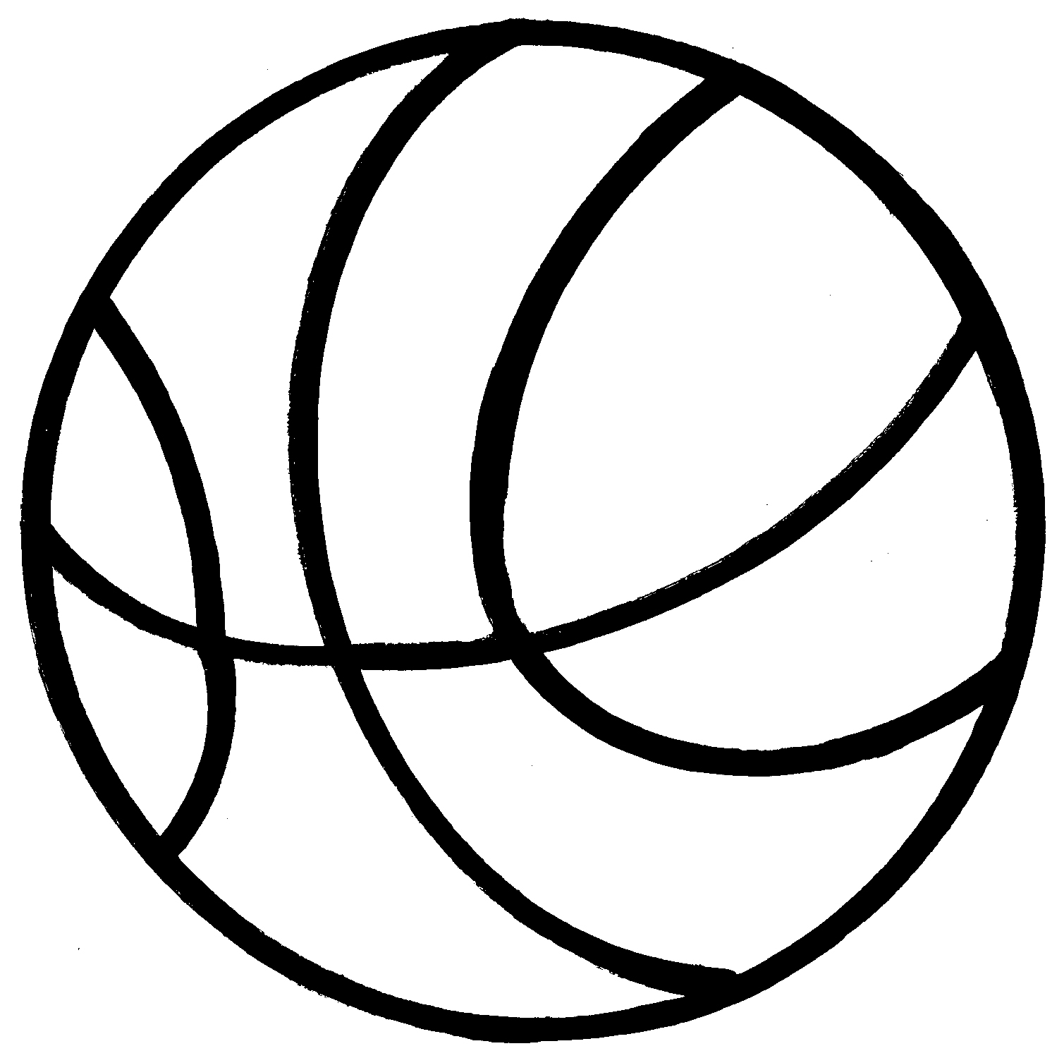 Viewing Gallery For - Basketball Clip Art Black And White