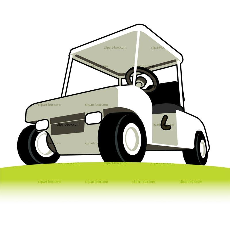 Funny golf cart clip art