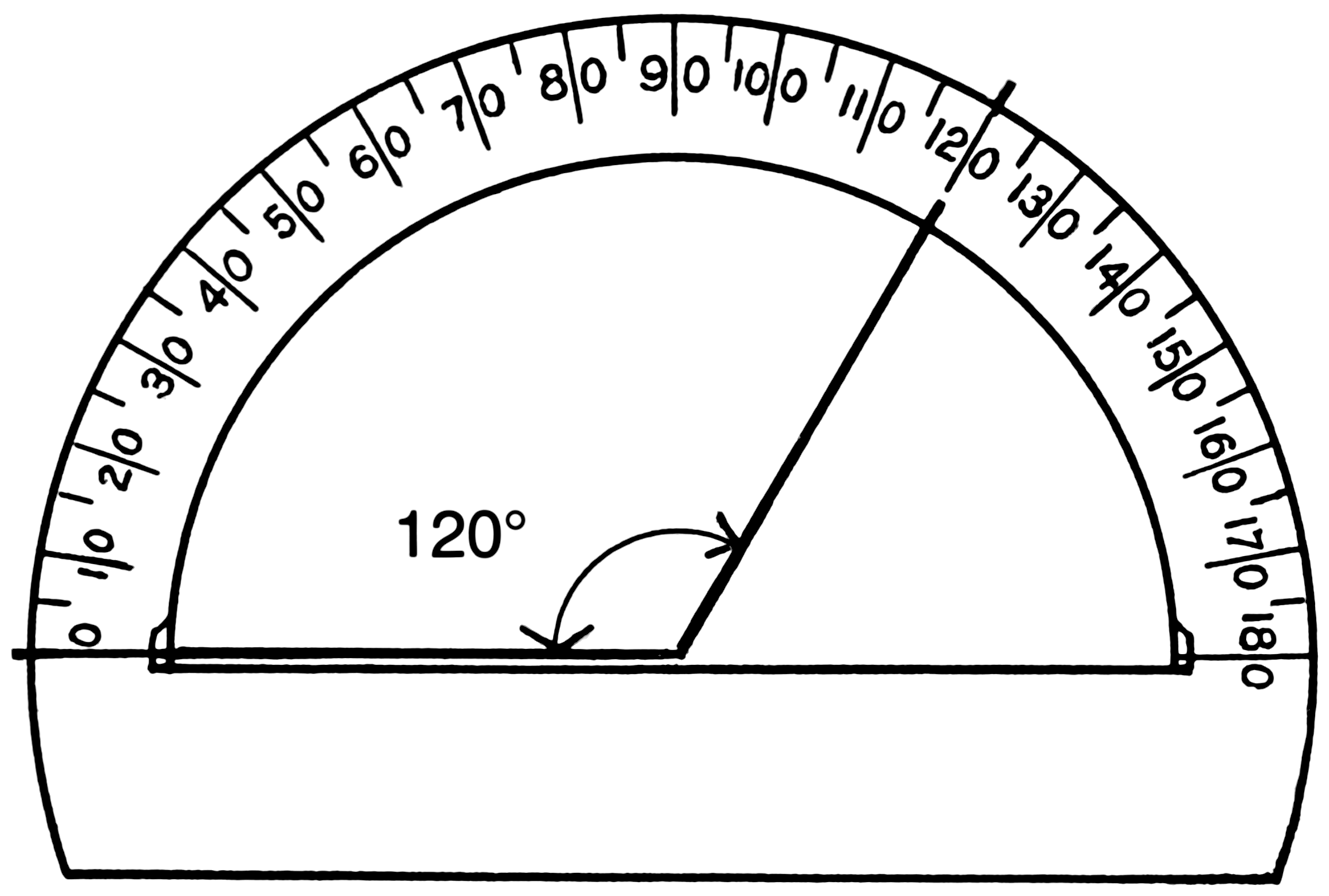 worksheet Protractor Image protractor actual size clipart panda free images