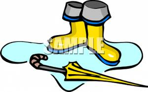 Rain Boots In Puddle | Clipart Panda - Free Clipart Images