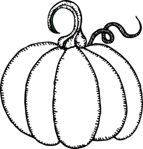 Pumpkin clip art - BLACK AND WHITE - Melonheadz Clipart by Melonheadz