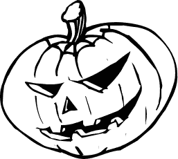 Pumpkin Clip Art Black And White | Clipart Panda - Free Clipart Images